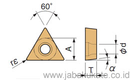 60° Triangle / Positive with Hole