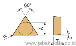 60° Triangle / Positive without Hole